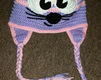 Mouse crochet hat