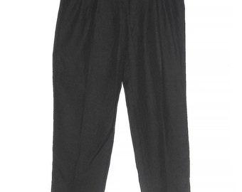 Vintage Versace Classic Black Men's Pants, 56 Size