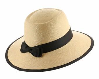 Ultrafino Tiffany Planter Womens Straw Panama Hat