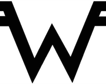Weezer Logo Cross Stitch Pattern