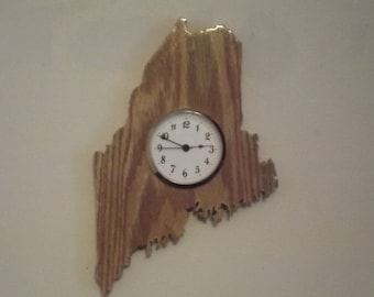 Handcrafted Maine State Clock Aroostook County Maine
