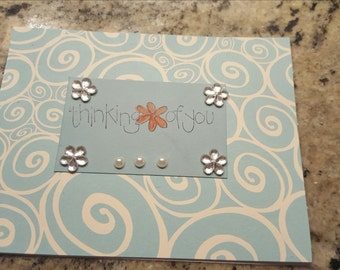 I am thinking of you.. let her know with this handstamped card