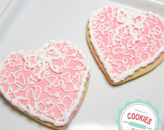 Filigree Heart Cookies  Irem # 1008