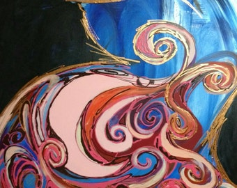 Abstract Pregnant Woman