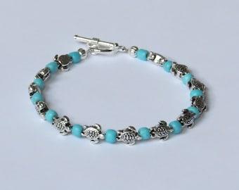 E-1644  Baby sea turtle bracelet