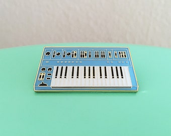 Synth Keyboard Enamel Pin - 3rd Edition (Blue)