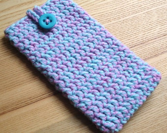 iPhone 6 Plus Cosy in Pink Blue Marl - Phone Case, Sock, Cozy - Fashion Accessories - Gadget case - Cell Phone Case for Her Birthday, Sister