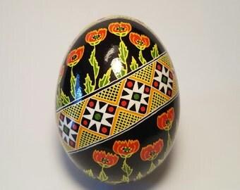 Poppy Pysanky Ukrainian Easter Egg