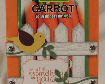 Greeting Card - Come grow your garden - Yellow Bird