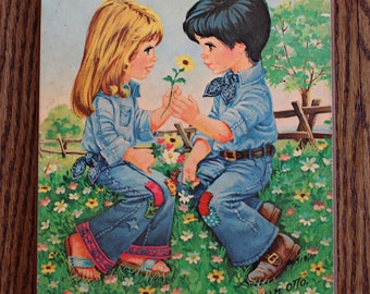 Vintage 1970's Cute Little Denim Love