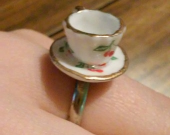 Cherry Teacup Ring