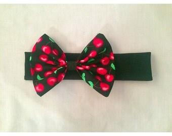 Red cherry headband