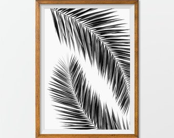 Palm Leaf Print, Palm Leaf Art - Palm Leaf Printable, Leaf Artwork Office Decor, House Decor Wall Art