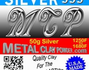 The Original -  MCP -  Metal Clay Powder 999+ 50g Fine Silver Clay!