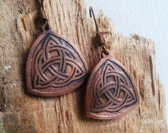 Earrings with Triquetra