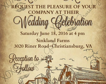 High End Custom Wedding or Engagement Party Invitation or Announcement Cards JPEG Ready to Print