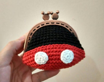 Crochet Mickey Mouse purse