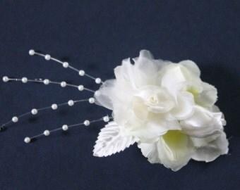 White Bridal hair piece