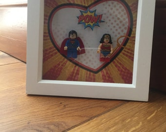 Love superhero frame