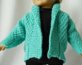 PDF American Girl doll sewing pattern for batwing sweater or