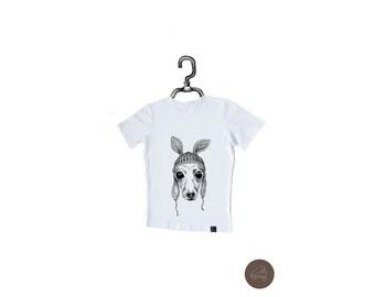 Men's T-Shirt Italian Greyhound in Hat, Sighthound M-W