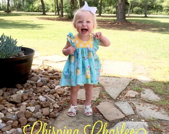Double Ruffle Tunic | Sunshine | 3m to 10y