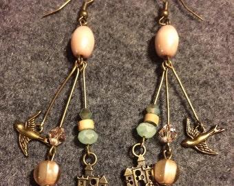 Sandcastle dangle earrings