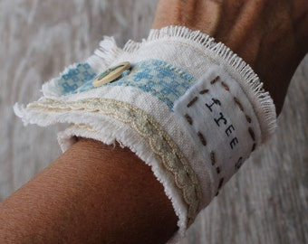 Are you a Free Spirit...OOAK Cuff Bracelet by Valentina...Butterfly...Mariposa