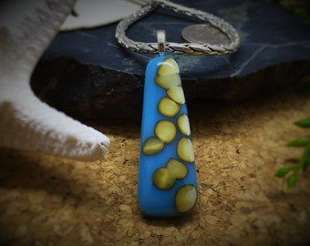Fused Reactive Glass Pendant