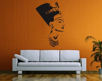 kik58 Wall Decal Sticker Egyptian queen Nefertiti living room bedroom