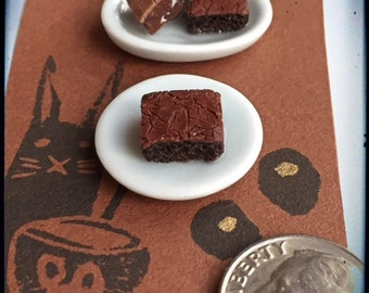 Polymer Miniature 1:12 Scale Brownies