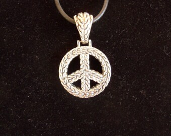 Peace Sign, Silver Peace Sign, Silver Peace Pendant, Peace Sign Jewelry, Hippie Jewelry, Peace Pendant, Sterling Peace Sign, Peace Symbol