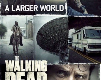 The Walking Dead A Larger World Giclee Print Movie Poster FREE SHIPPING