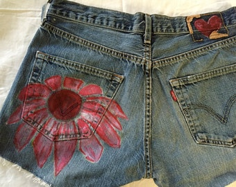 Flower power hot pants MadeByMySister3 AovN6