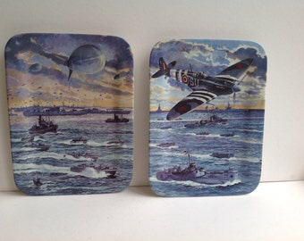 Davenport Brian Sanders war illustrated collectable plates