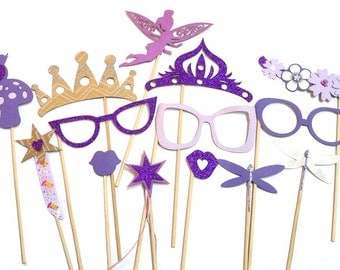 Photo Booth Props - 14PC Fairy Princess Party Photo Booth Props