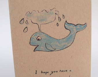 Greeting Card-  Whale of a time