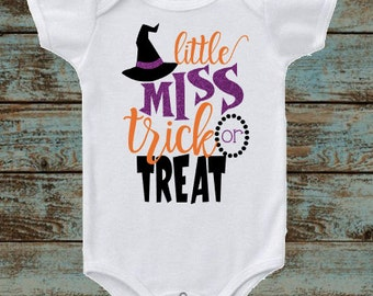 Little Miss Trick or Treat, Halloween Pumpkin, Happy Halloween Outfit, Baby Halloween Outfit, Kids