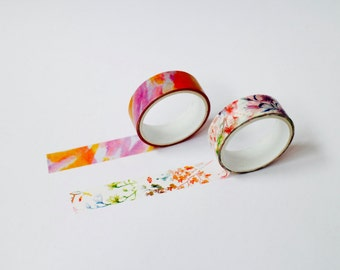 Set of 2 Floral Washi Tape/Masking Tape