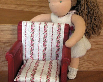 Large, handmade wooden doll chair, 18 inch doll furniture, american doll furniture, waldorf doll, handmade toy, doll house furniture