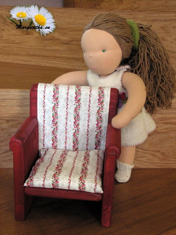 Large Handmade Wooden Doll Chair 18 Inch Doll Furniture