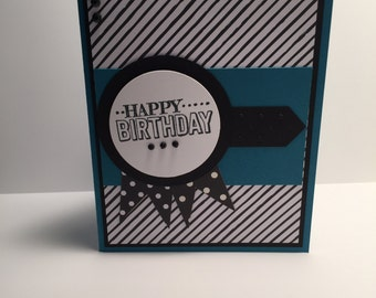 Stampin Up handmade masculine birthday card