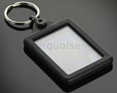 Premium Silicone Gel Clear Blank Keyrings Key Fobs 45 x 35 mm  Passport Photo