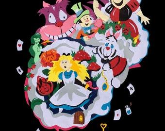 Displays Alice In Wonderland PaperCut