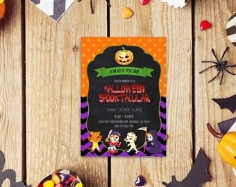 Halloween word invite_10,INSTANT DOWNLOAD - Edit Yourself in Word. Template Editable Text Microsoft Word.DIY You Print.