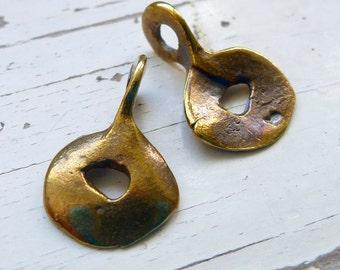 Antique Bronze Doodad Charm, Pack of 10, Mykonos Beads, Greek Beads