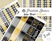 Harry Potter maison Poufsouffle | Printable stickers | 3 pdf | Téléchargement instantané | Planner, Happy planner