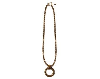 Vintage Chanel Paris Costume Disc Long Chain Necklace 1980s