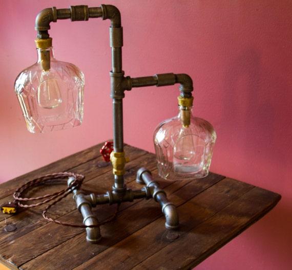 Items Similar To Bottle Light- Pipe Lamp, Table Lamp, Desk