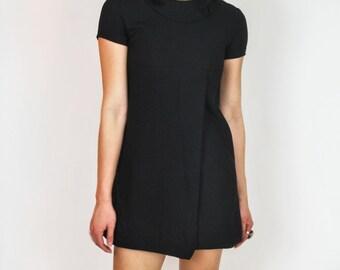 Vintage 1960's Black mini mod dress